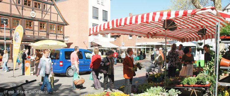 Markt in Gehrden (Foto Stadt Gehrden)